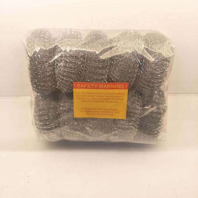 Galvanized Steel Wire Pot Scourers , Stainless Steel Cleaning Pads With Strong Cleaning Capacity