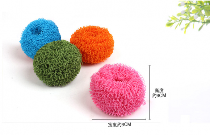 Colorful Polyester Fiber Scourer Long Lifetime Removal Of Stubborn Stains