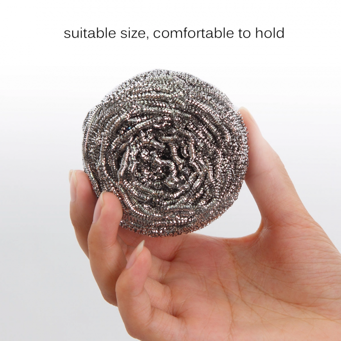 Heavy Duty Stainless Steel Scourer / Kitchen Cleaning Scrubber Eco - Friendly