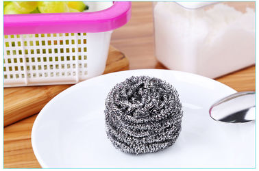 China Oil Removing Metal Scouring Ball Antibacterial For Restaurant Washing Pots supplier