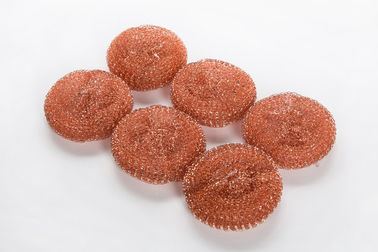 China Anti Mildew Copper Scouring Pads Customized Weight For Kitchen Cleaning supplier