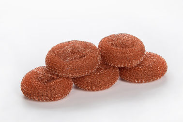 China Long Lasting Copperized Scouring Pads Bulk , No Handle Stainless Steel Scrubber Pads supplier