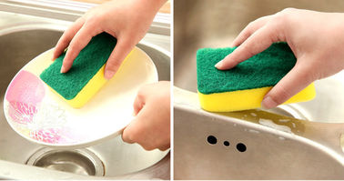 China Eco Friendly Dish Washing Sponge 10x7x3cm Size Not Easy To Drop Crumbs supplier