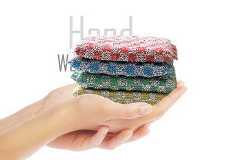 China Wear Resistant Non Scratch Scouring Pad ISO9001 Removal Of Stubborn Stains supplier