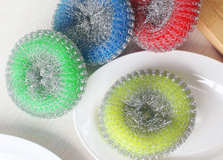 China AISI 410 Stainless Steel Kitchen Sponge Scrubber With Strong Cleaning Capacity supplier