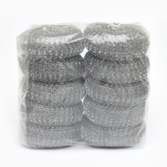 China Kitchen Zinc Coated Washing Scourers / Galvanize Wire Mesh Pot Scourer supplier