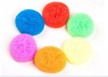 Soft PP Sponge Kitchen Scrub Pads , Harmless To Skin Plastic Scrub Pad
