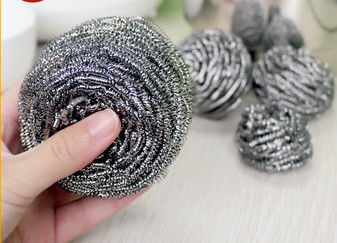 Household Cleaning Metal Scouring Ball Helical Structure Not Easy To Drop Crumbs