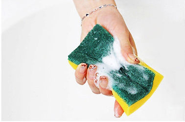 Long Lasting Dish Washing Sponge Customized Color Removal Of Stubborn Stains