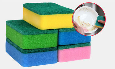 Heavy Duty Dish Washing Sponge With High Density Polyester Fiber Material