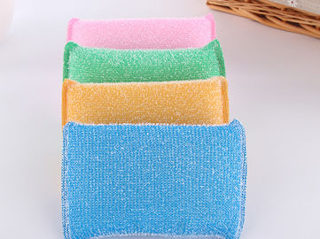 Eco Friendly Non Abrasive Cleaning Pads Strong Water Absorption With Plastic Thread